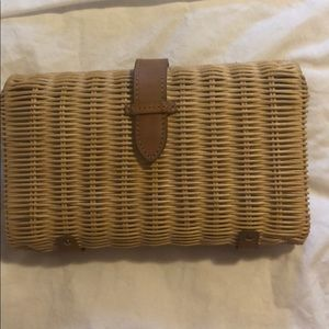 Jcrew wicker basket clutch